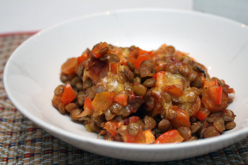 Baked Lentils with Cheese   Plan to Eat